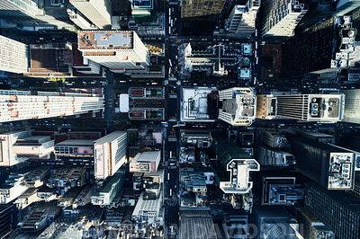 Straight down NYC aerial