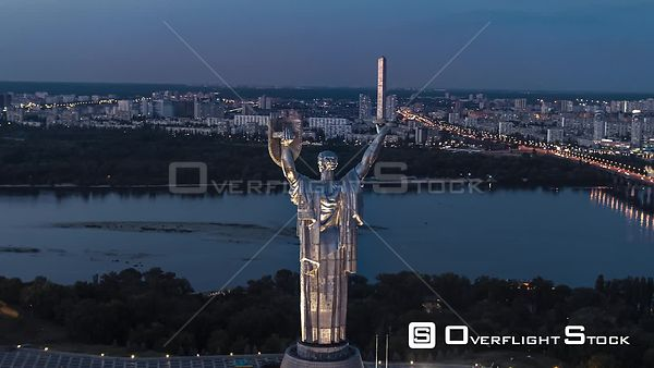 The Motherland Monument Soviet Era Statue in Kiev Ukraine