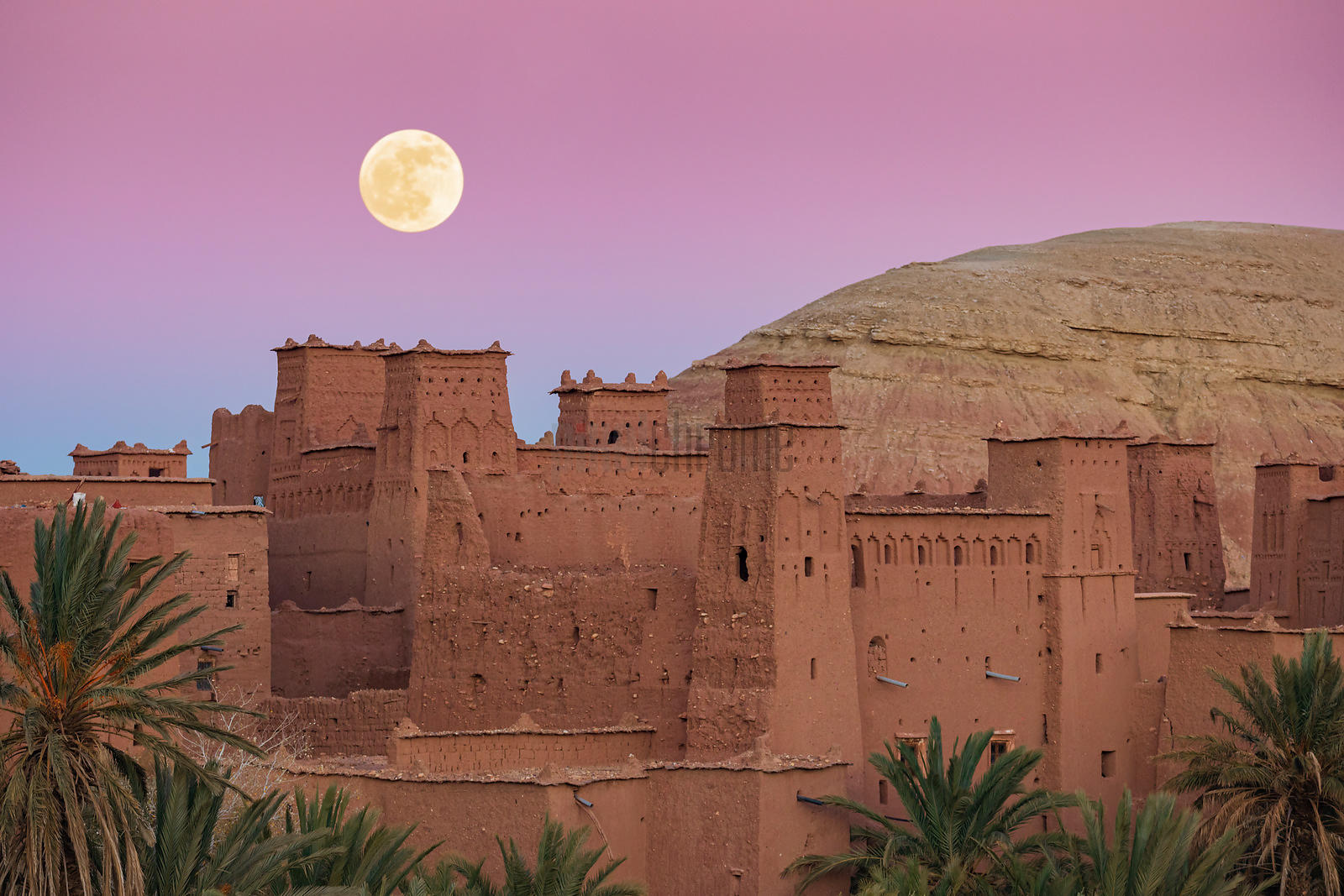 Last Full Moon of 2019 at the Ksar of Ait Ben Haddou