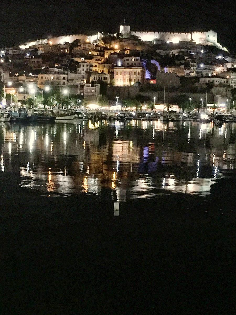 Kavala Castle Night