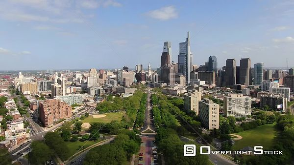 Philadelphia, Pennsylvania Overlooking Benjamin Franklin Parkway the Oval and Logan Square