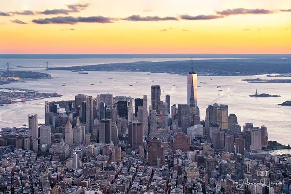 NYC_Helicopter_Downtown_Sunset