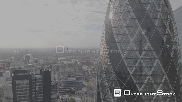 Close Rise by the 30 St Mary Axe (The Gherkin) Tower London UK