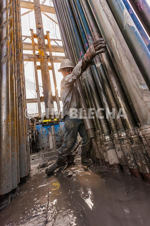 Roughneck Stacking Drill Pipe