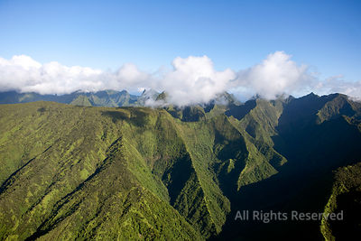 Mountains on Tahiti Tropical Islands of French Polynesia