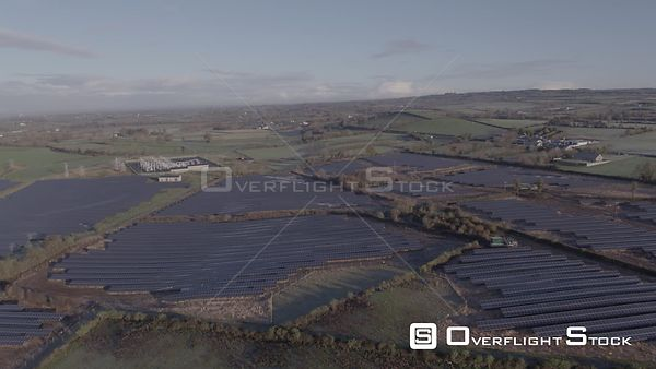 A Point of Interest Around a Solar Park on a Sunny Autumnal Morning