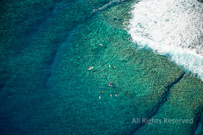 People Swimming Snorkelling Tropical Islands of French Polynesia. Capital City Papeete on Tahiti