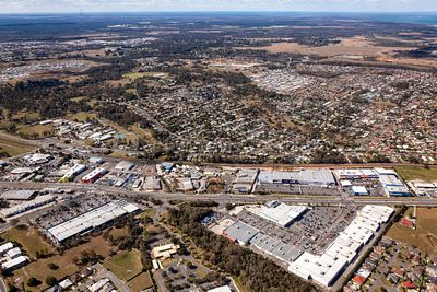 Aerial view of Morayfield in Queensland Australia.