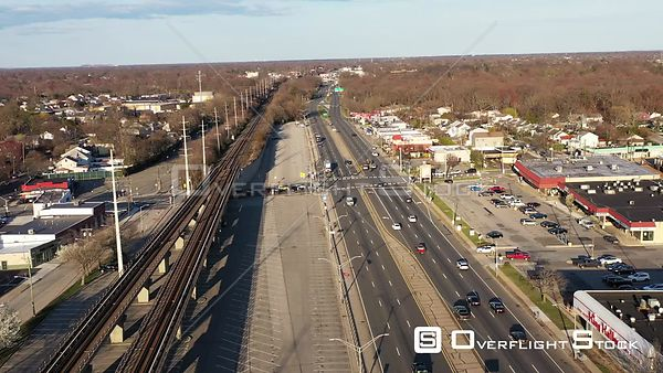 Drone Video of Sunshine Highway Bellmore, Long Island During COVID-19 Pandemic