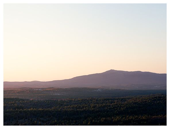 Sunset on Mount Monadnock