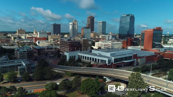 Statehouse Convention Center Downtown Little Rock Arkansas Drone Aerial View