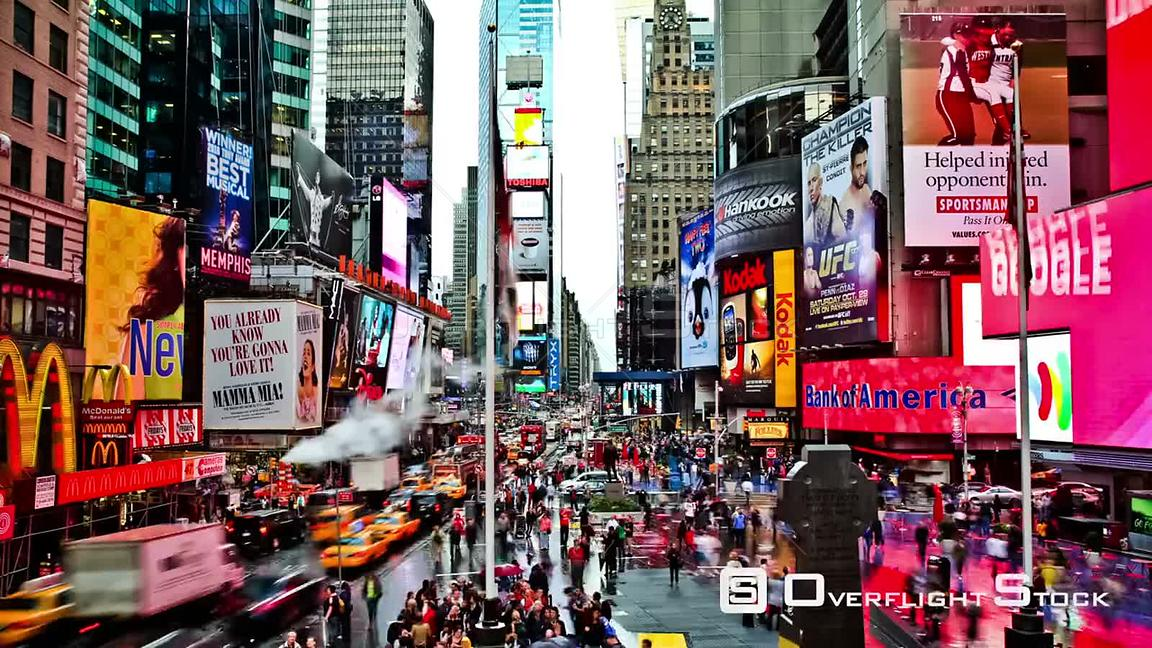 NYC New York USA Times Square time lapse on October 14th 2011.