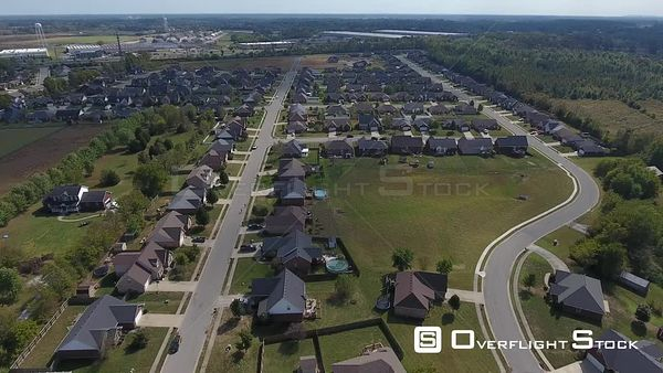 New Suburban Community Kentucky Drone Aerial View