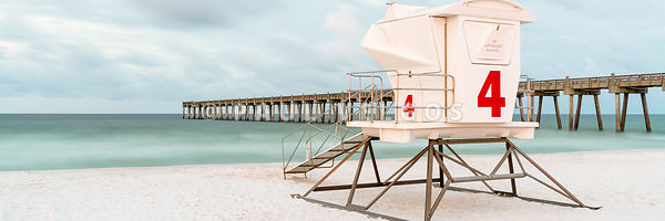 Pensacola Beach Lifeguard Tower 4 Panorama Photo