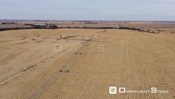 Center Pivot Irrigation in a Corn Field, Plymouth, Nebraska, USA