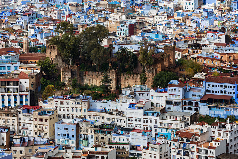 Elevated View of the Kasbah of Chefchaouen from the Spanish Mosque