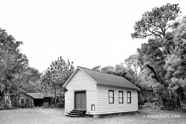 FIRST AFRICAN BAPTIST CHURCH THE SETTLEMENT CUMBERLAND ISLAND GEORGIA BLACK AND WHITE