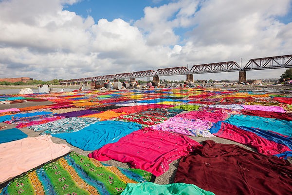 Dhobi Ghat on the Bank of the Yamuna River