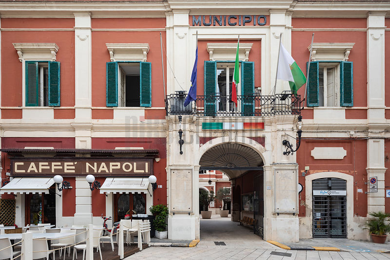 The Municipio Building and Napoli Caffe
