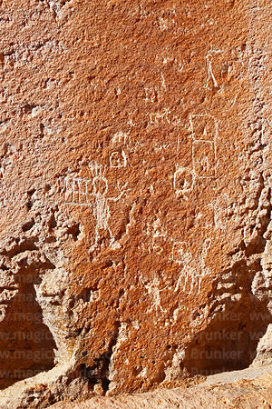 Detail of petroglyphs at Jawincha, near San Pedro de Quemes, Potosí Department, Bolivia