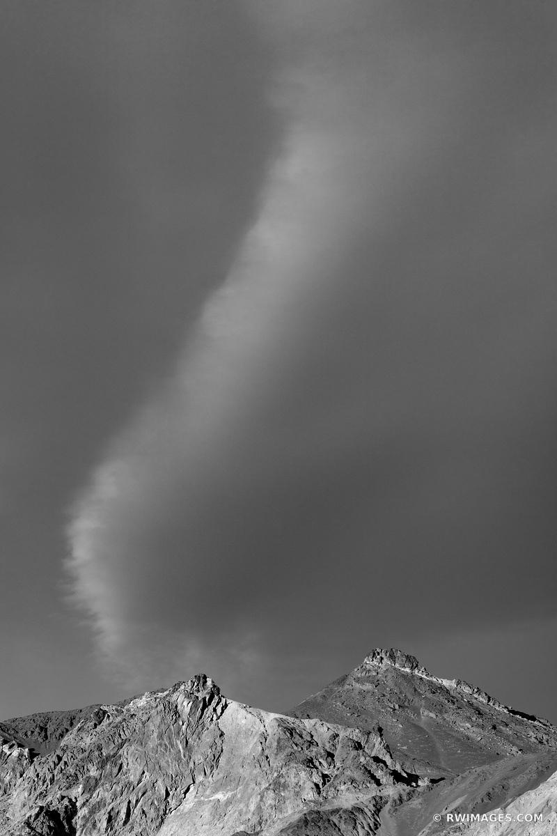 ARTISTS DRIVE DEATH VALLEY CALIFORNIA BLACK AND WHITE VERTICAL