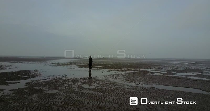Statue Art Installation Crosby Beach UK