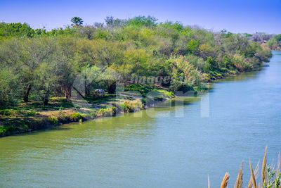The principal Rio Grande River in Nuevo Progreso, Mexico