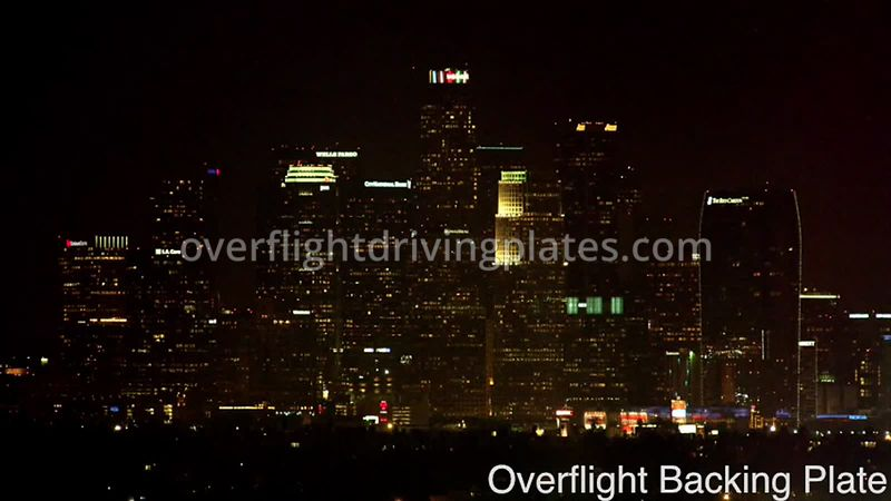 Night DTLA Downtown Highrises - Los Angeles California USA - BackingPlate Sep 19, 2019