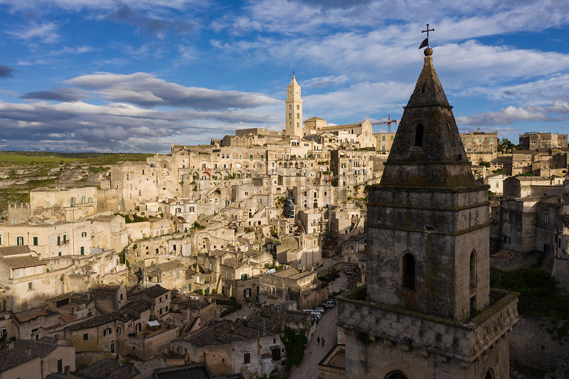 View of Matera Showing the Rupestrian Church of San Pietro Barisano in the Foreground
