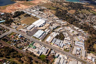 Aerial view of Lawnton in Queensland Australia.