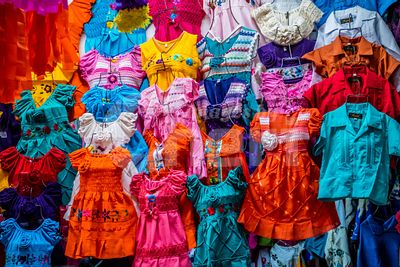 A traditional Mexican clothing in Nuevo Progreso, Mexico