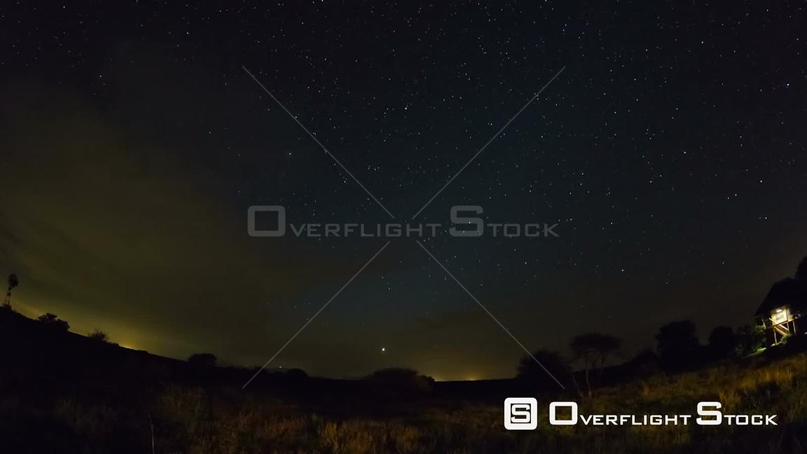 South Afirca Star time lapse clip in Kruger Park, South Africa using a fisheye lens.