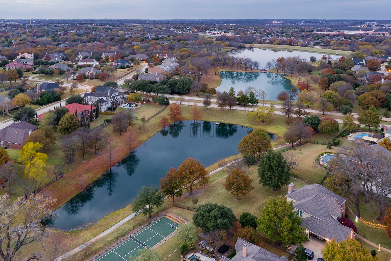 Aerial View of Mallard Lakes, McKinney, Texas