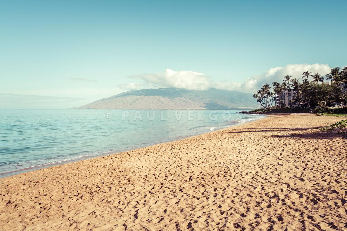 Maui Hawaii Kamaole Beach Retro Photo