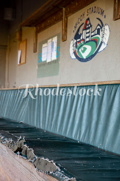 Players Bench in Dugout of McCoy Stadium