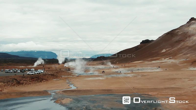 Boiling Mud Pits and Fumaroles in Hverir, Iceland