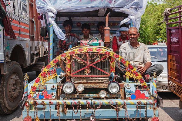 Colorful Vehicle in Agra Street