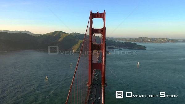 Golden Gate Bridge San Francisco California Drone Aerial View