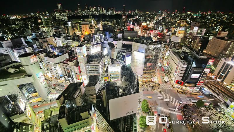 Tokyo  Japan Tokyo cityscape time lapse over Shibuya intersection on January 26th 2013.