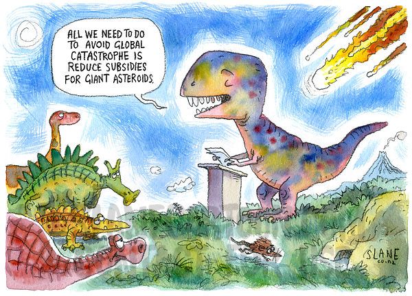 Asteroid Subsidies For Dinosaurs