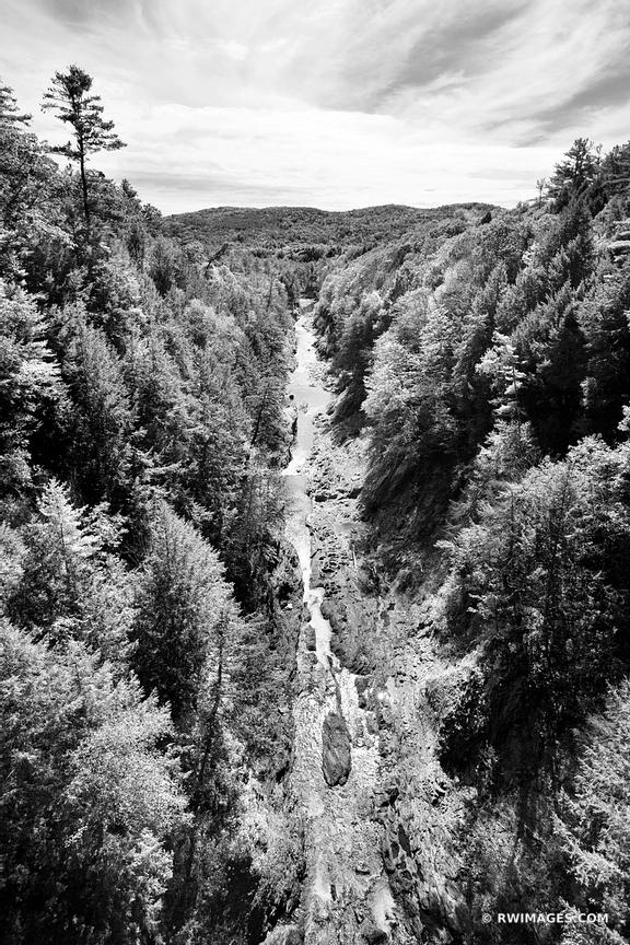 QUECHEE GORGE STATE PARK GREEN MOUNTAINS VERMONT BLACK AND WHITE VERTICAL