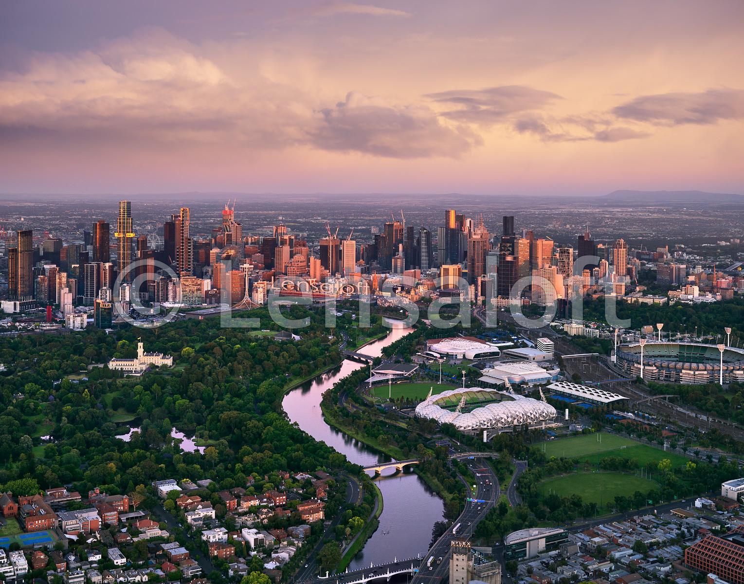 Sunrise Reflections - Melbourne 2020