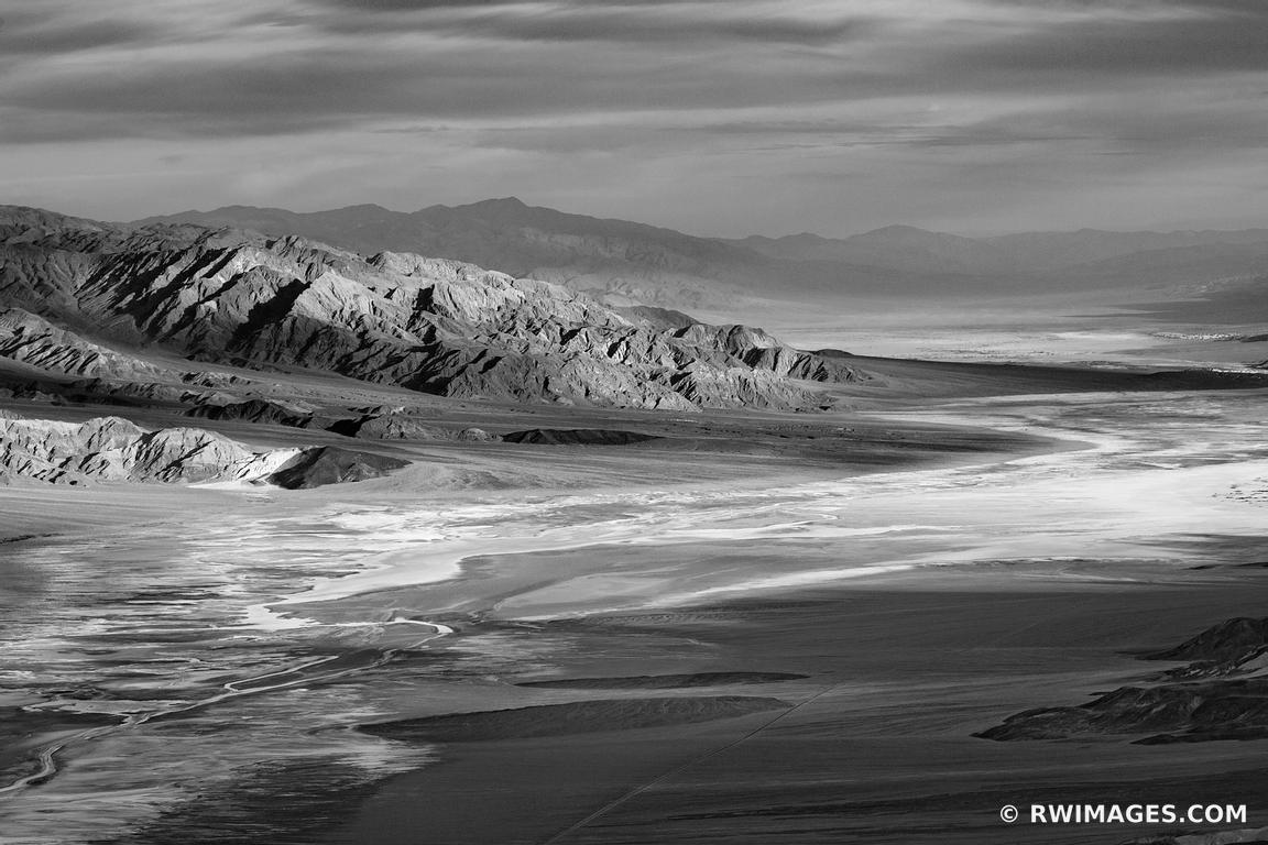 DANTE'S VIEW DEATH VALLEY CALIFORNIA AMERICAN SOUTHWEST BLACK AND WHITE DESERT LANDSCAPE