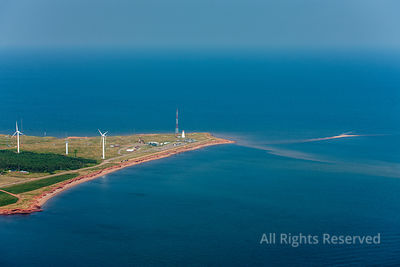 Wind Farm Electricity Generating Tignish Prince Edward Island Canada