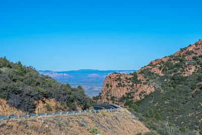 A long way down the road going to Jerome, Arizona