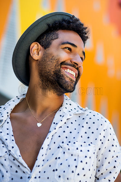 Downtown Santa Monica - Smiling Male Portrait