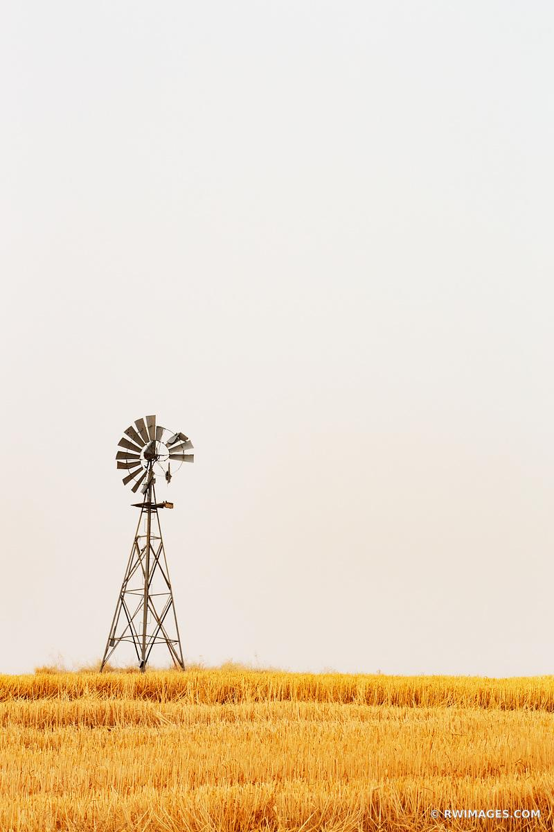 FARM WINDMILL PALOUSE EASTERN WASHINGTON STATE COLOR VERTICAL