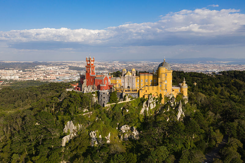 Aerial View of the Sintra Palace