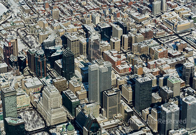 Downtown Montréal and Region in Winter. Quebec Canada