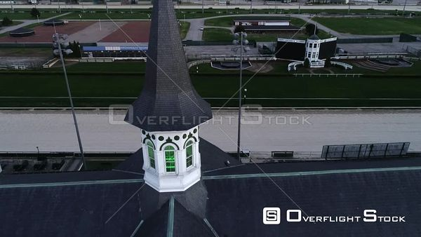 Churchill Downs Horse Racing Track Empty During Covic19 Lockdown. Louisville Kentucky Drone View